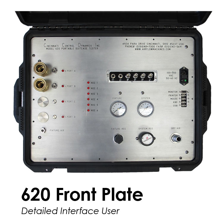 Mass Air Flow Model 620 - Front Plate